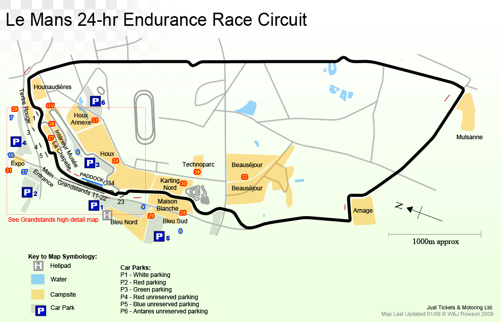 Image result for Le mans race track map