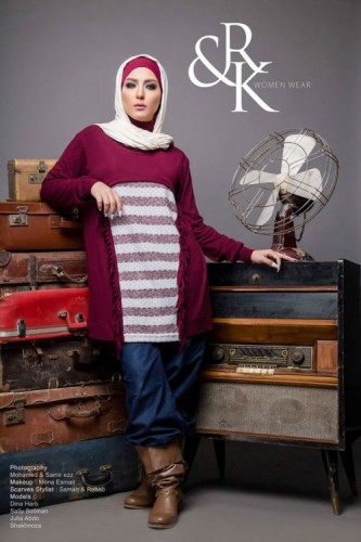 maroon sweater hijab