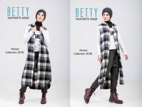 plaid tunic sporty hijab