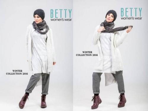 white coat hijab style