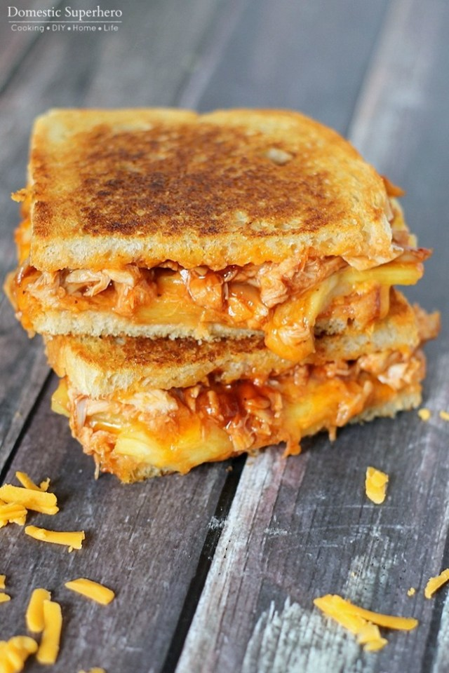 Wednesday - BBQ Chicken Grilled Cheese