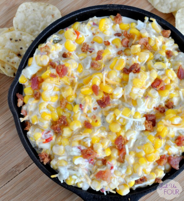 This bacon corn dip is the ultimate in party foods!