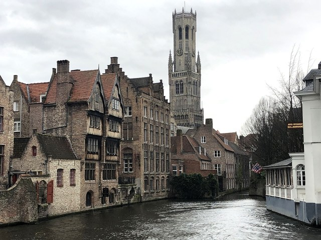 The Belfry Of Bruges, View Across The River