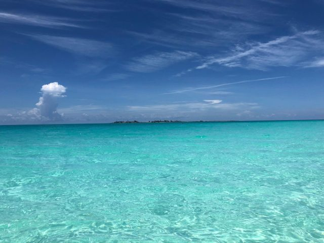 Crystal Clear Turquoise Water Of Playa Pilar Beach