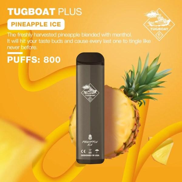 Disposable tugboat plus pineapple ice