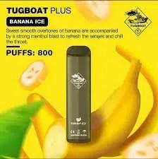 Disposable tugboat plus banana ice
