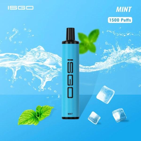 Disposable vape ISGO Paris1500 puffs MINT