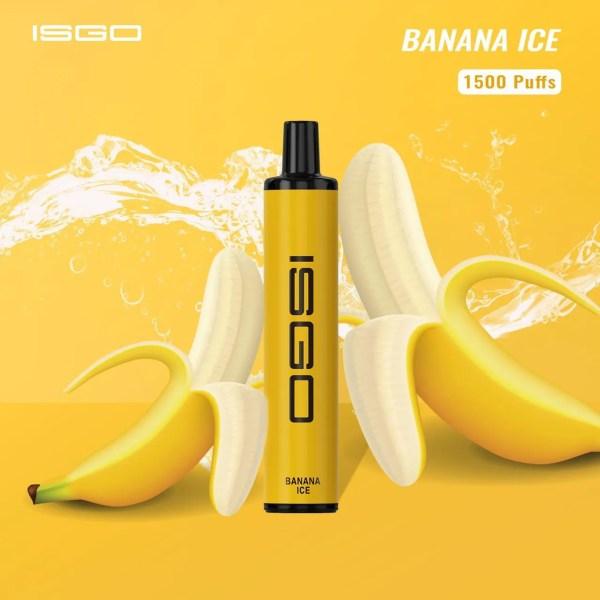 Disposable vape ISGO Paris1500 puffs BANANA ICE