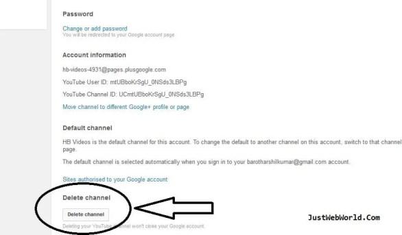 Delete YouTube Account