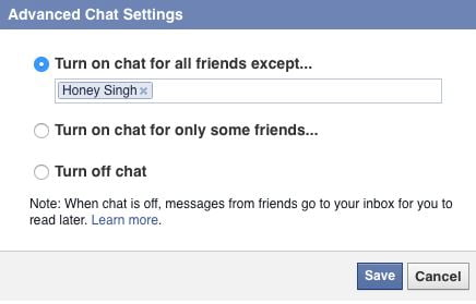 Facebook Advanced Chat Setting - Facebook Tips