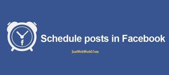 schedule aposts on facebook