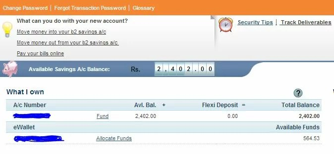 ICICI Online B2 Account