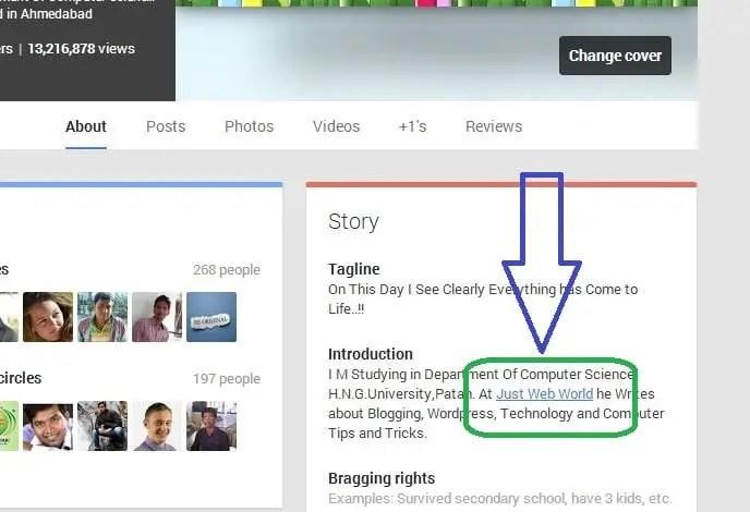 Google+ dofollow Backlinks