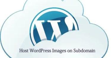 Host WordPress Images on Subdomain