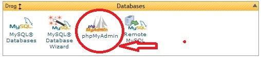 PhpMyAdmin SQL Database