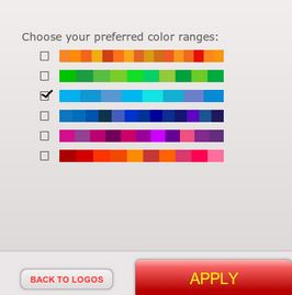 use colour filter for selected logo.