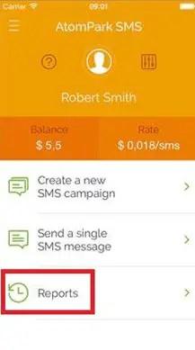 Atompark SMS App for iOS