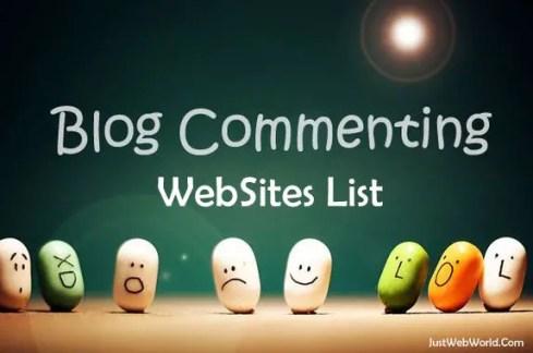 High PR dofollow blog commenting sites