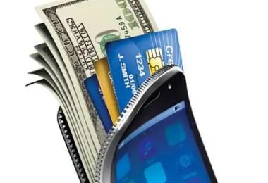 Collecting Money Doorstep Mobile Wallet