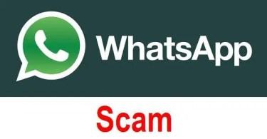 WhatsApp Online Scam