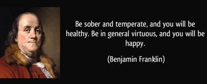 Be Temperate