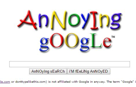 Annoying Google Funny Trick