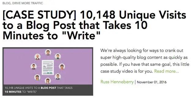 Data Driven Blogs