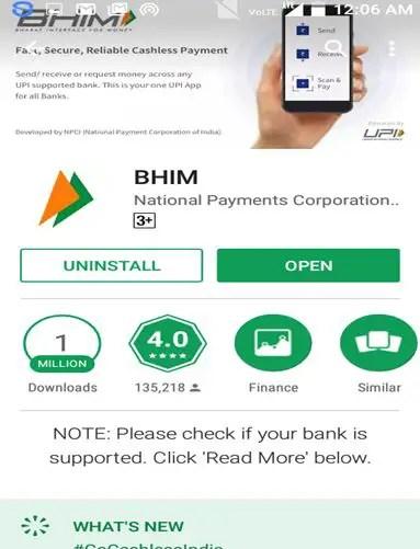 BHIM App Install