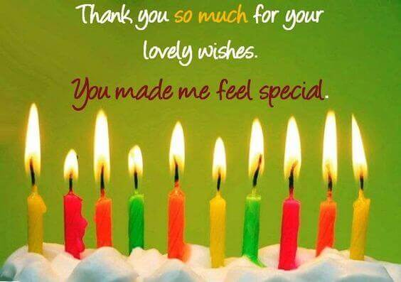 Thank You Message, Quotes, Greetings For Birthday Wishes