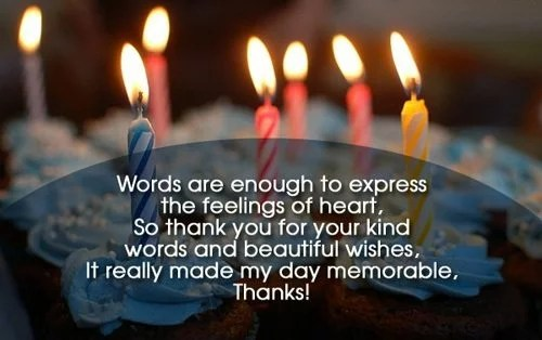 thank you message for birthday greetings received