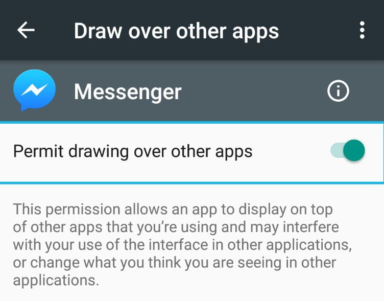Permit Drawing over Apps