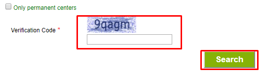 Enter the captcha and search for it