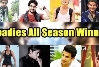 MTV Roadies All Season Winners