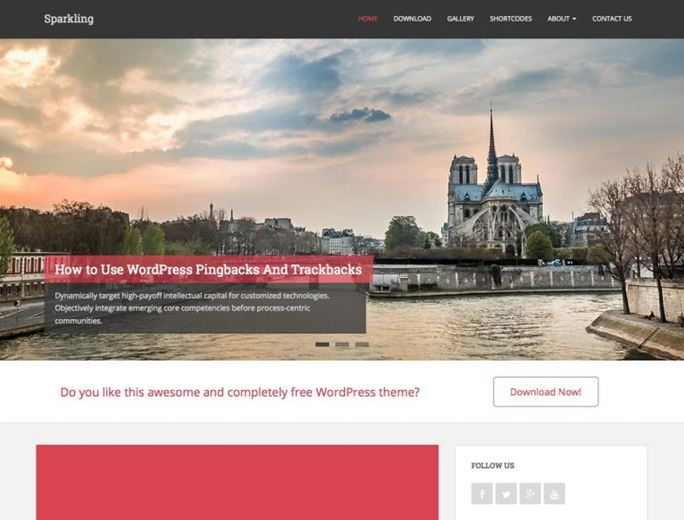 Sparkling WordPress Theme