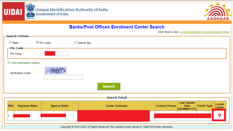 Add Mobile Number In Aadhaar Card Step 6