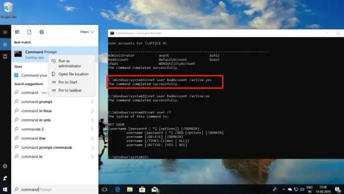 cmd.exe (Windows 10)