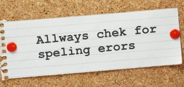 Spelling Mistakes in English