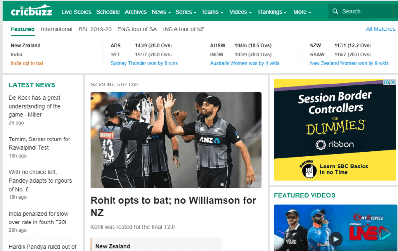 Cricbuzz.com - Cricket Score and News