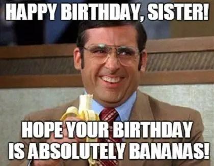 Happy Birthday Sister Memes