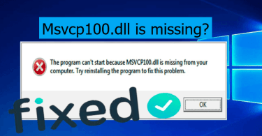 MSVCP100.dll is missing