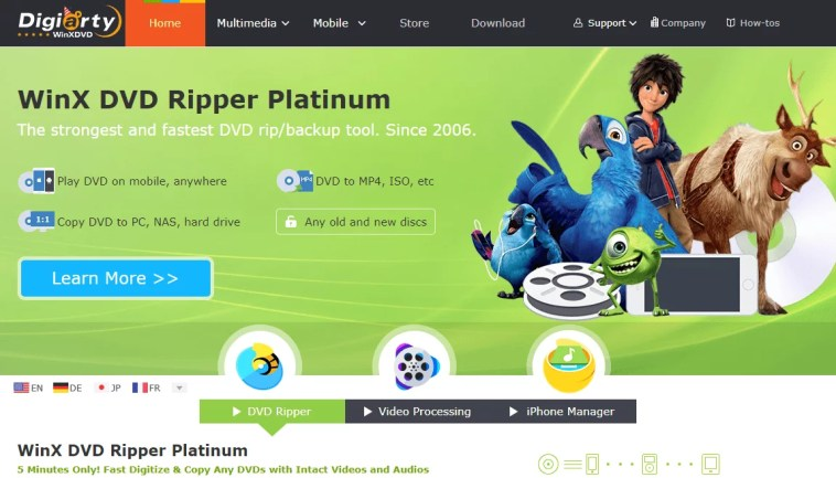 Ripping DVD with WinX DVD Ripper Platinum