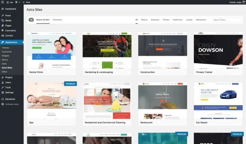 Premade websites