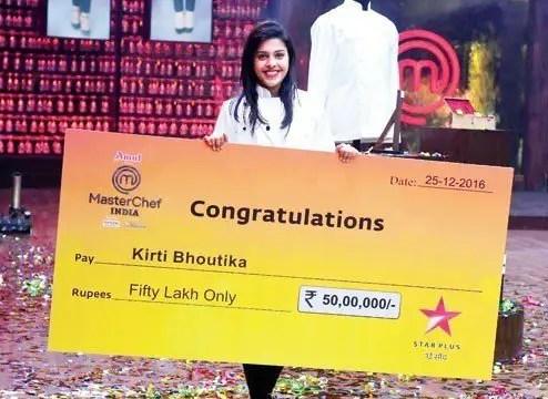 MasterChef India 5 Winner - Kirti Bhoutika