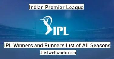 List of All IPL Winner Teams