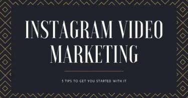 Instagram Video Marketing