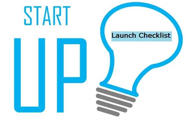 Startup Launch Checklist