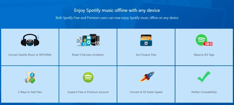 Spotify music offline with any device