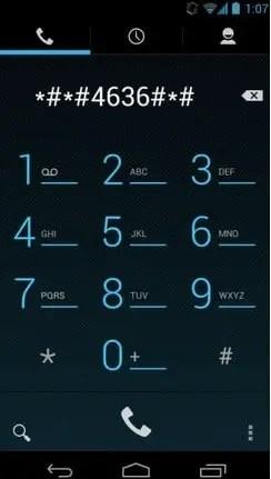 Dial *#*#4636#*#*