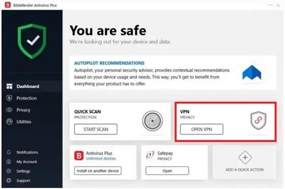 Built-in VPN