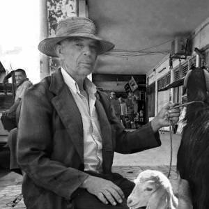Man and his Goat - El Jem Tunissia